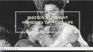 Photos represent memories of your life