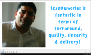 ScanMemories photo scanning customer testimonial review