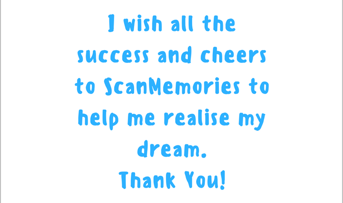 ScanMemories happy customer testimonial