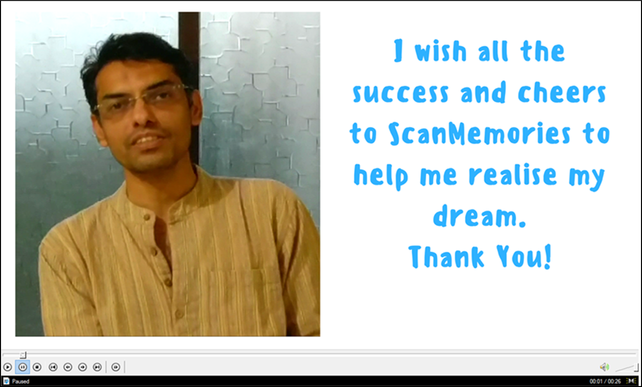 ScanMemories happy customer review testimonial